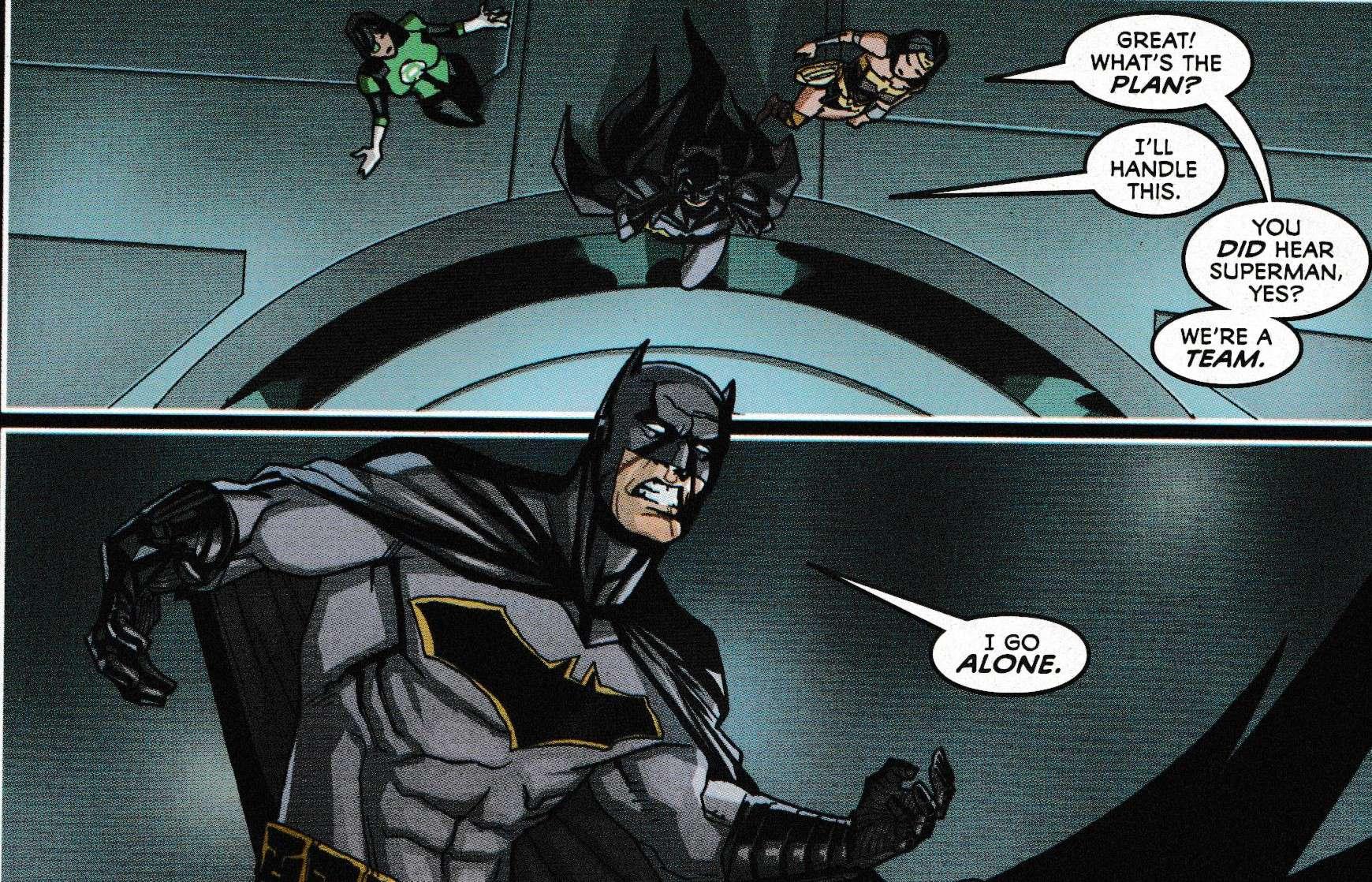 Batman alone