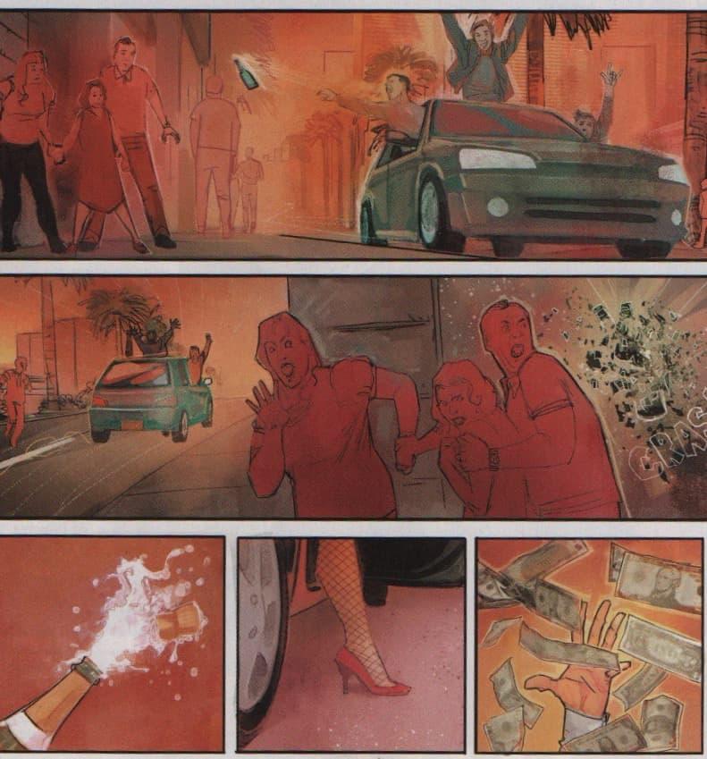three panels of trouble