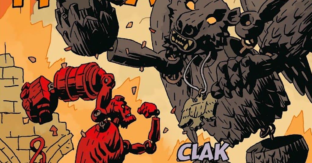 کمیک Hellboy beast of vargu - کمیک پسر جهنمی و دیو ویرگو