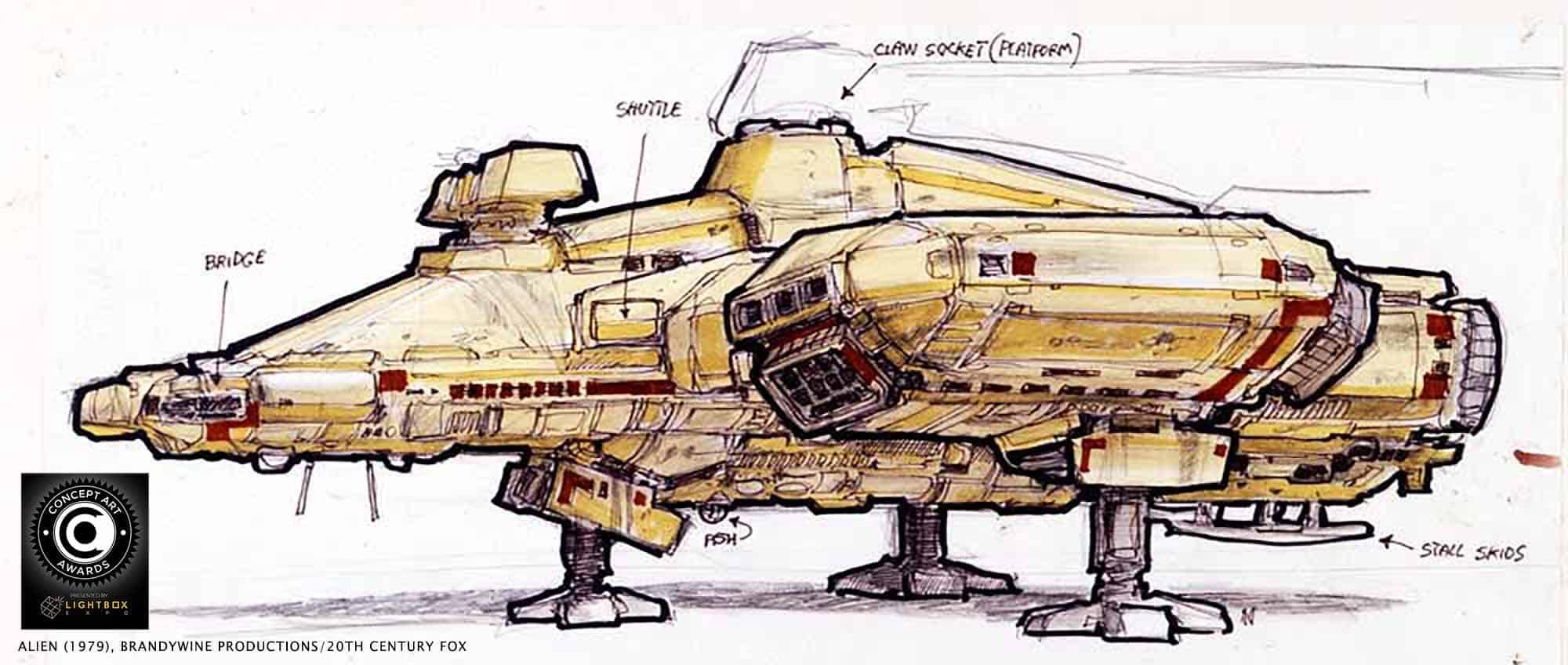 Alien 1979 Concept Art Giger