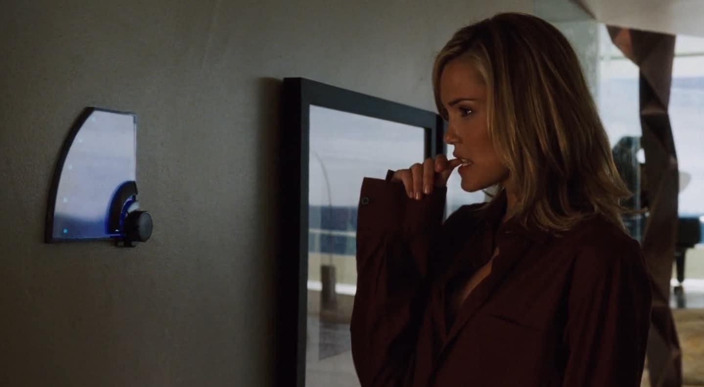 Christine snooping through the Malibu mansion