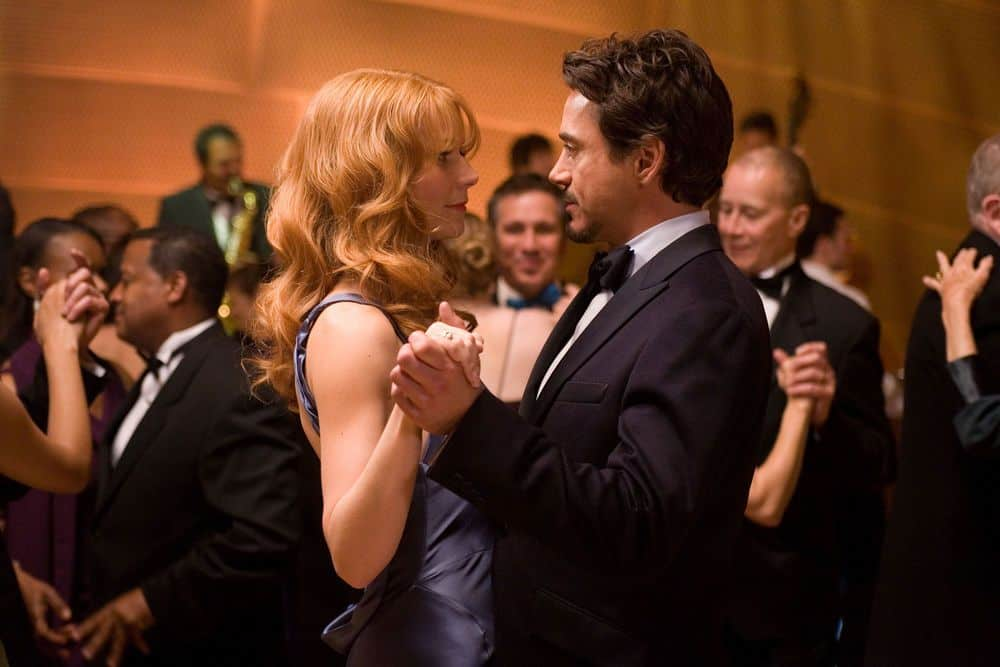 Pepper and Tony dancing