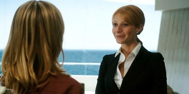 Pepper Potts confronts Christine Everhart in Tony's mansion